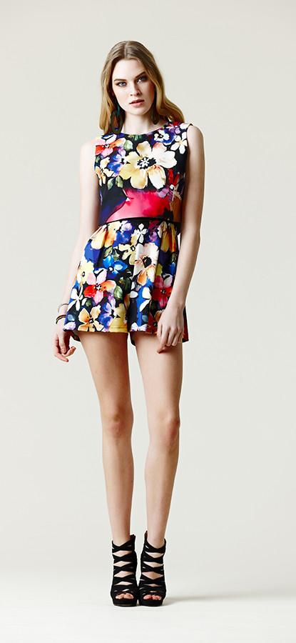 Mini dress con maxi fiori