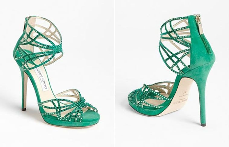 Scarpe Verdi Sposa.Sandali Gioiello Jimmy Choo Collezione 2015 Colorato Unadonna It