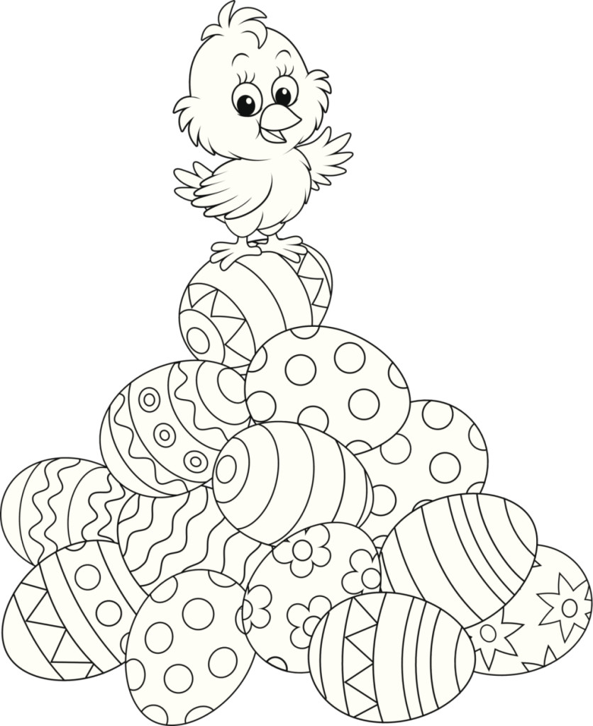 disegni da colorare per pasqua unadonna