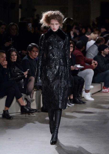 Alexander McQueen lungo coat nero