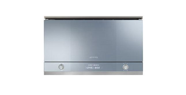 forno a microonde Smeg MP122 in acciaio e vetro | UnaDonna