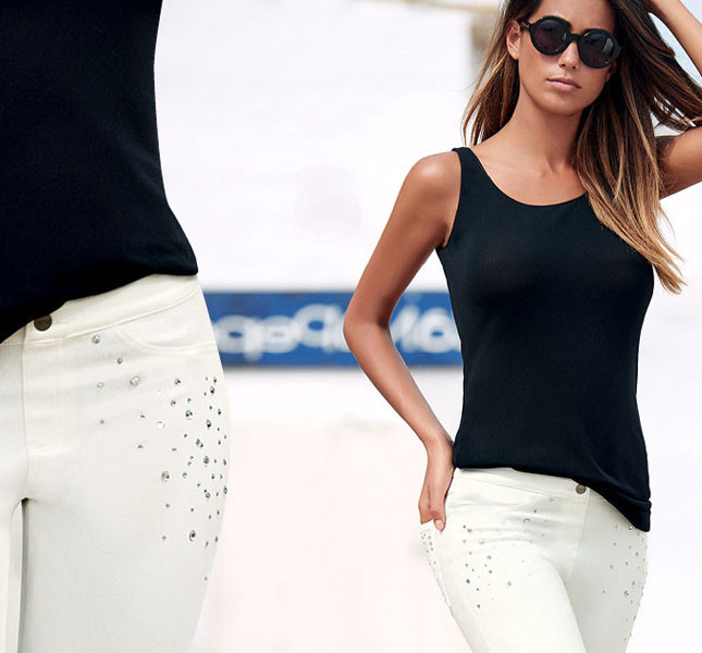 Jeggins con applicazioni - Hue by Golden Point