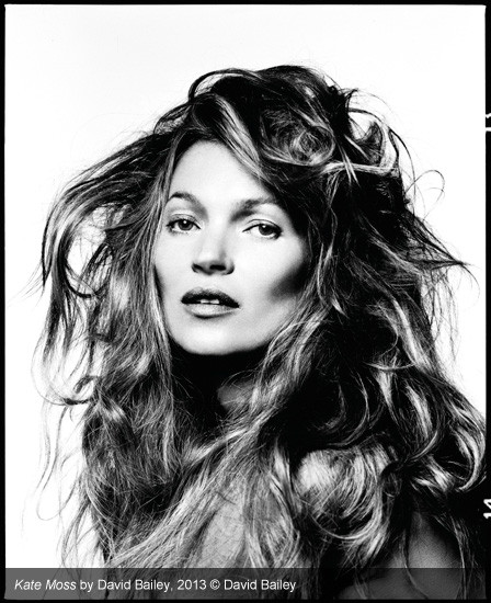 Ritratto di Kate Moss. David Bailey, mostra Stardust.