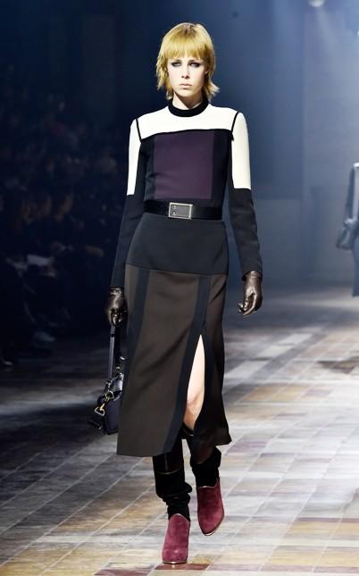 Lanvin abito con spacco e cintura in vita
