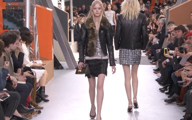 La pelliccia non può mancare sulla passerella  Louis Vuitton