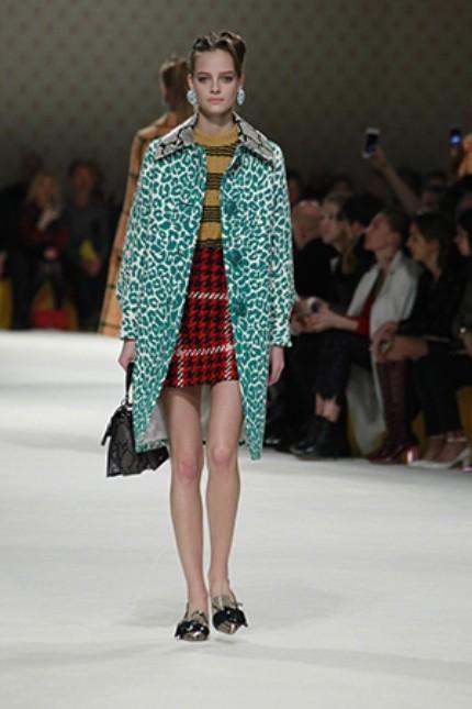 Miu Miu coat con stampa leopardata