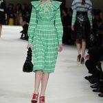 Miu Miu vestito verde co maxi collo