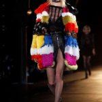 Saint Laurent pelliccia multicolor