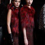 Richmond mini dress rosso con dettagli fur