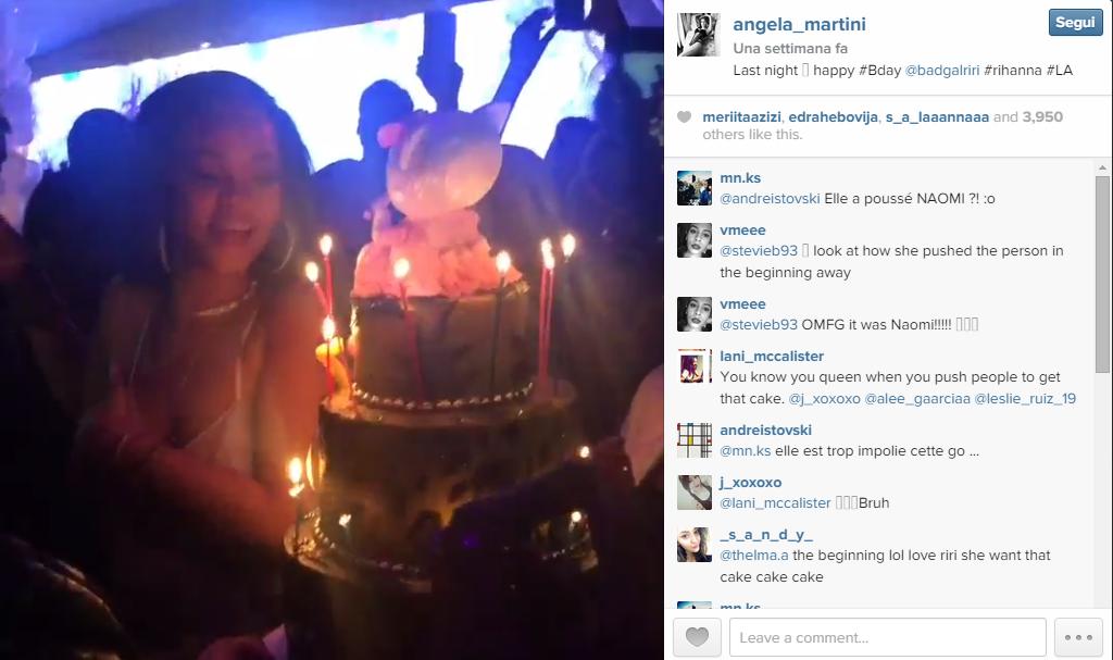 Rihanna spegne le candeline alla festa per il suo 27esimo compleanno a Los Angeles