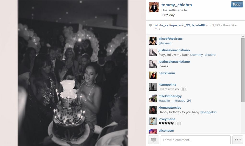 Rihanna alla festa per il suo 27esimo compleanno a Los Angeles con Leonardo DiCaprio e tanti altri ospiti