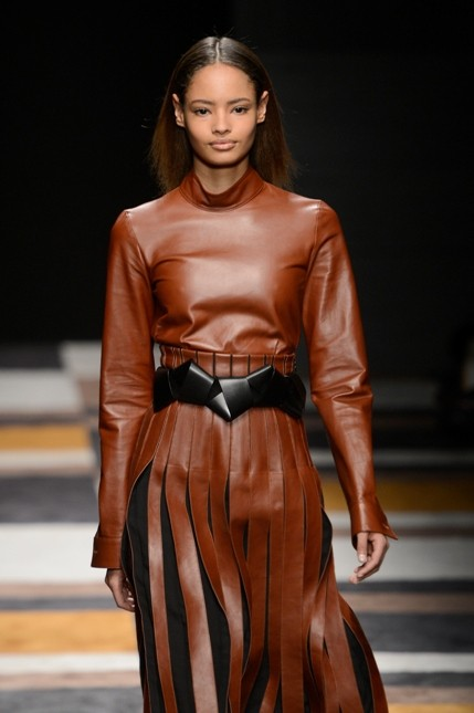Salvatore Ferragamo abito in pelle