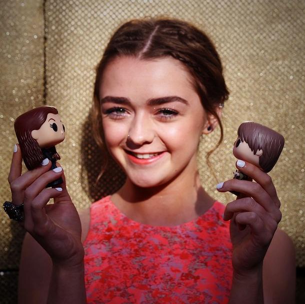 Maisie Williams, alias Arya Stark
