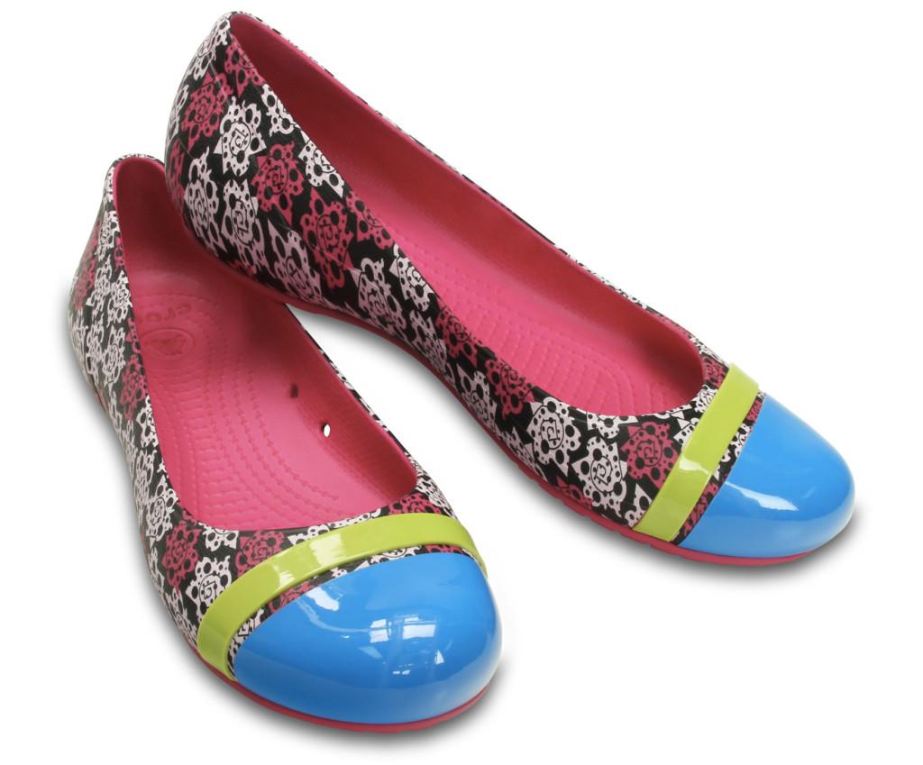 Crocs Cap Toe Mondo Roses Flat