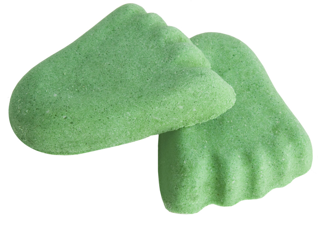 Verdi e con forma simpatica sono i prodotti per pedicure LUSH