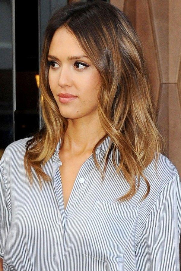 L'écaille si può fare anche sui capelli medio - lunghi