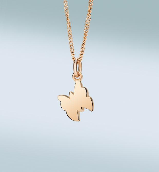 Girocollo Petit Dodo Lasciamo il cuore libero di volare. Oro rosa 9 kt.