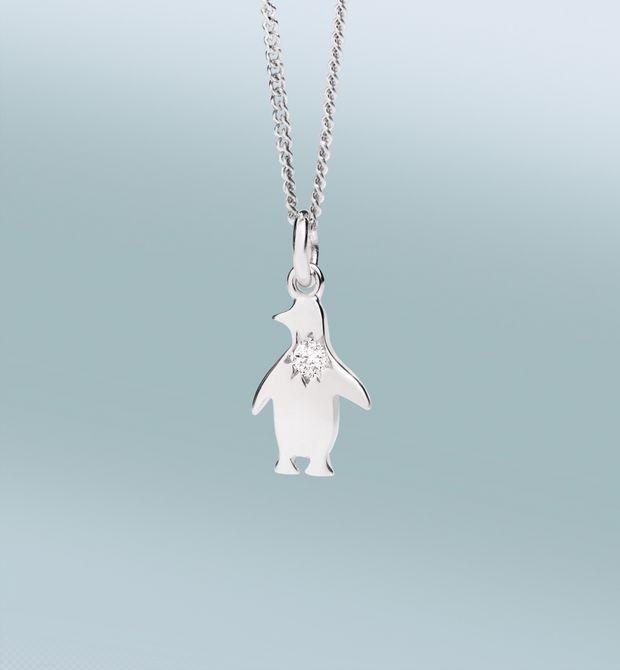 Girocollo Petit Dodo Il cuore dice che… è il momento di fare una pazzia. Oro bianco 18 kt con diamante.