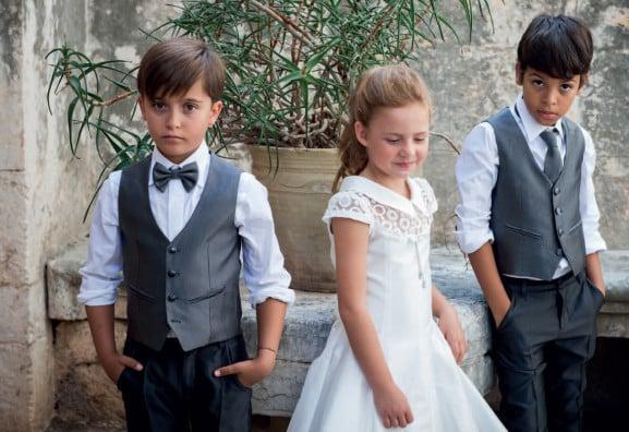 abito cerimonia gricgio Pignatelli junioir
