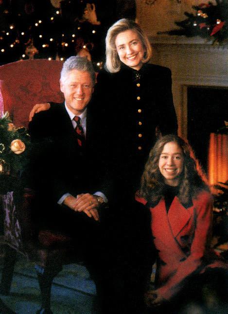 Hillary con Bill e Chelsea