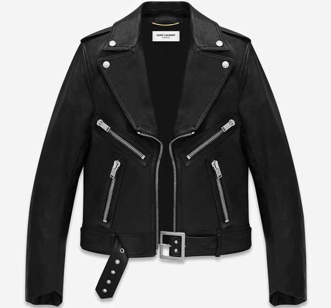 Giacca Motorcycle Geometric nera in pelle
