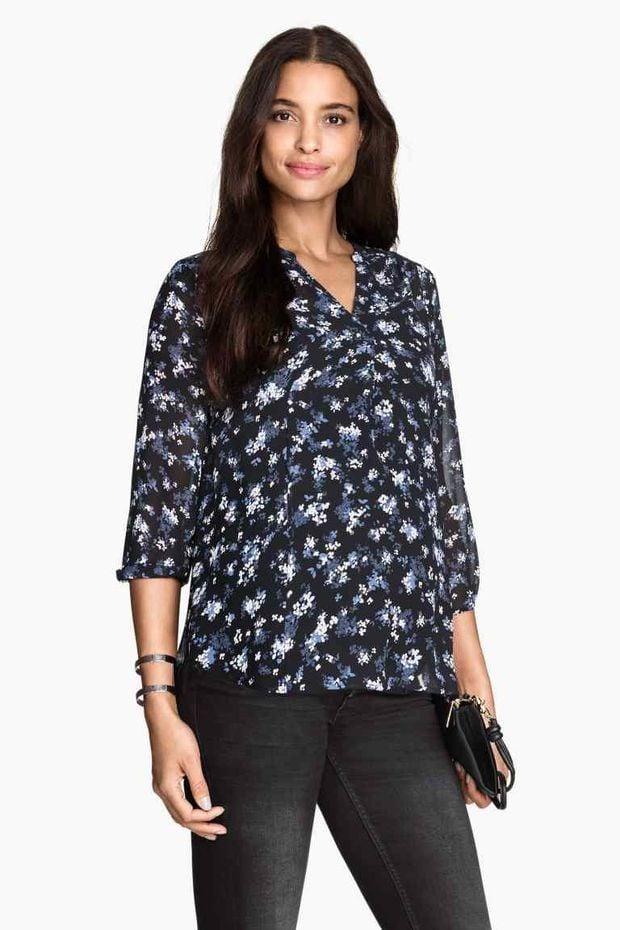 H & M  blusa a fiori premaman