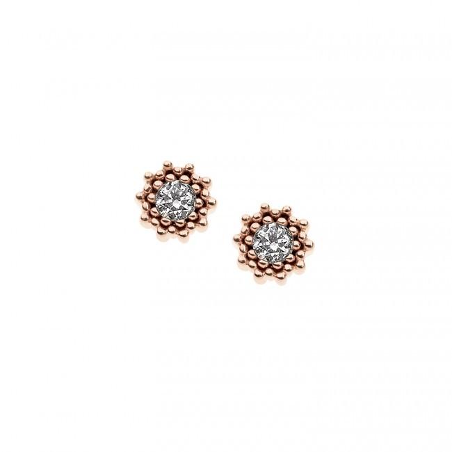 Orecchini- Sogni Oro 750‰ . Diamanti P.Ct. 30 Col. G Purezza SI