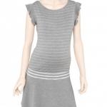 Prenatal abito con volant premaman in morbido jersey