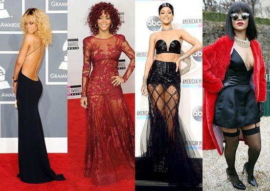 Looks in trasparenza per Rihanna