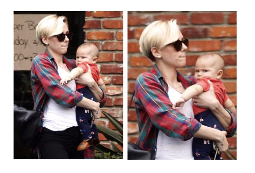 Scarlett Johansson con il suo nuovo taglio di capelli a passeggio con la figlia