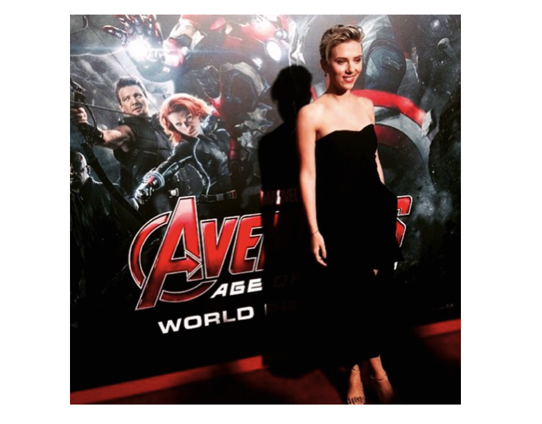 Scarlett Johansson alla presentazione del film Avangers