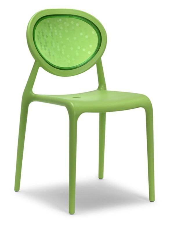 Sedia in plastica impilabile Super Gio Scab Design