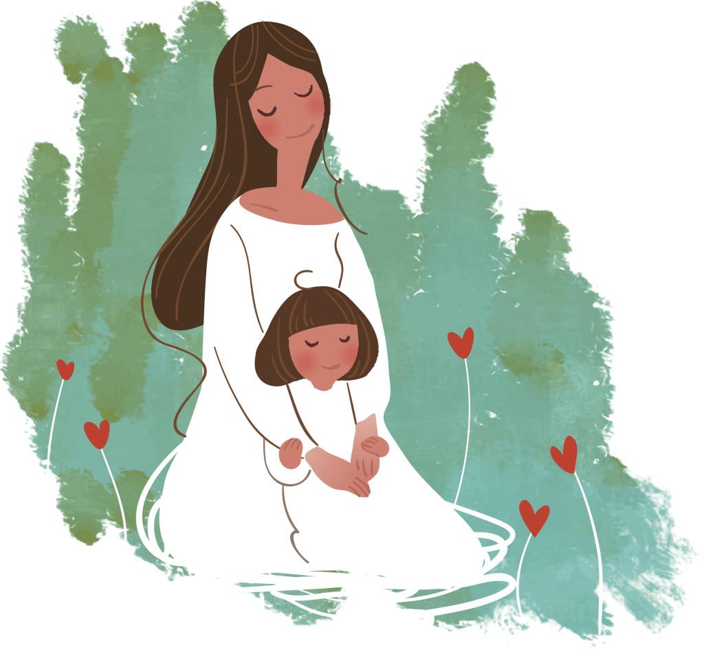 Mamma E Figlia Disegno.Disegni Da Colorare Per La Festa Della Mamma Unadonna