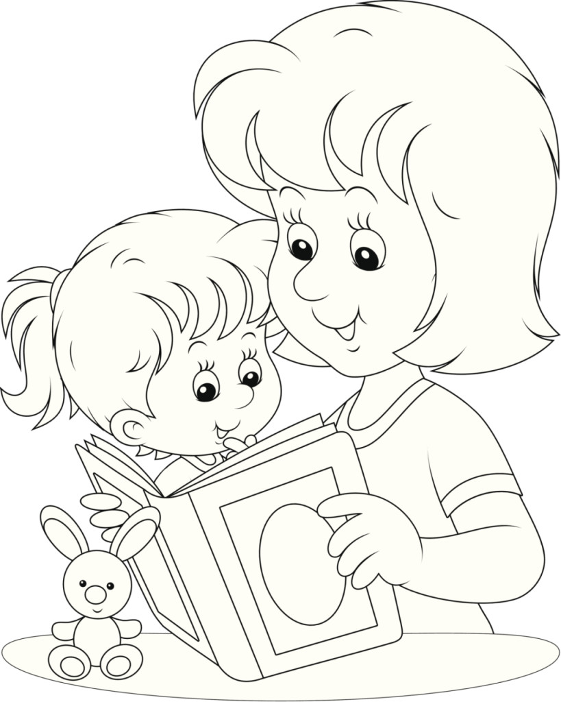 disegni da colorare per la festa della mamma unadonna