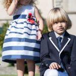 spezzato blu e bianco per bimbo cerimonia