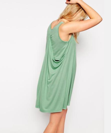ASOS Maternity abito mini ampio color verde menta