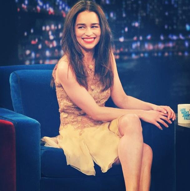 Emilia Clarke ospite al Late Show With Jimmy Fallon