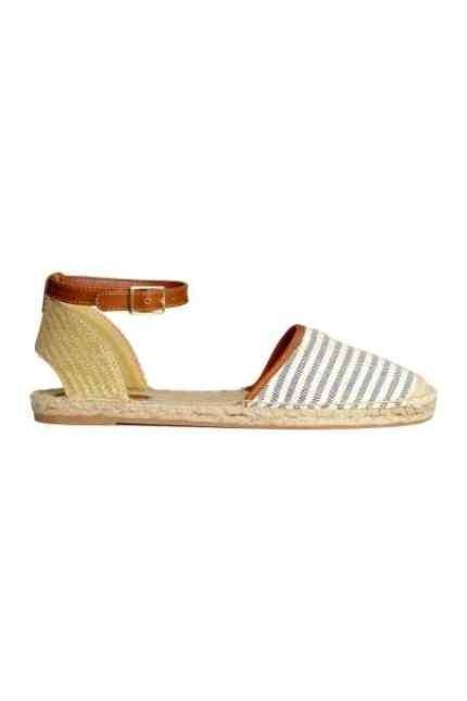 H&M espadrillas a righe con laccetto alla caviglia
