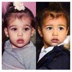 Kim e la figlia North alla stessa età