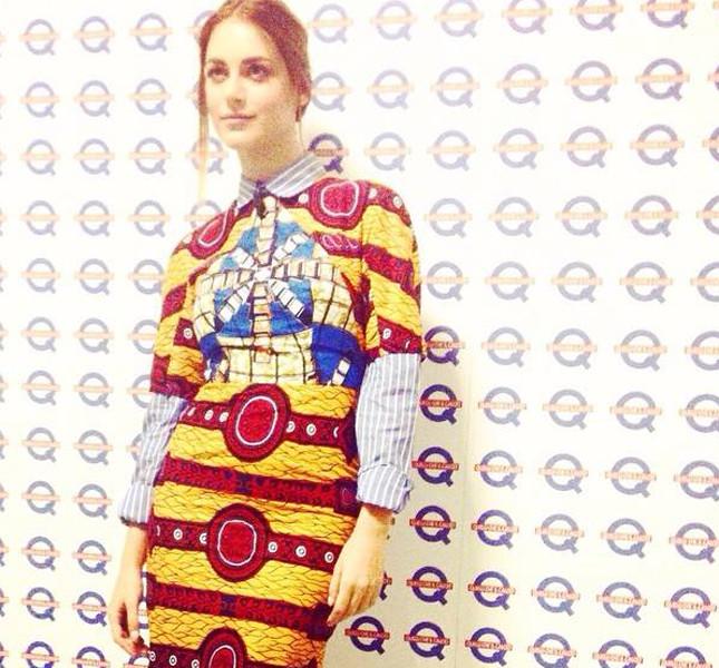 Miriam Leone indossa un abito firmato Stell Jean