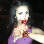 Foto Nina Dobrev sul set di The Vampire Diaries