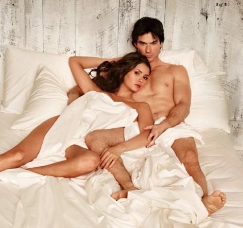 Foto Nina Dobrev e Ian Somerhalder in The Vampire Diaries