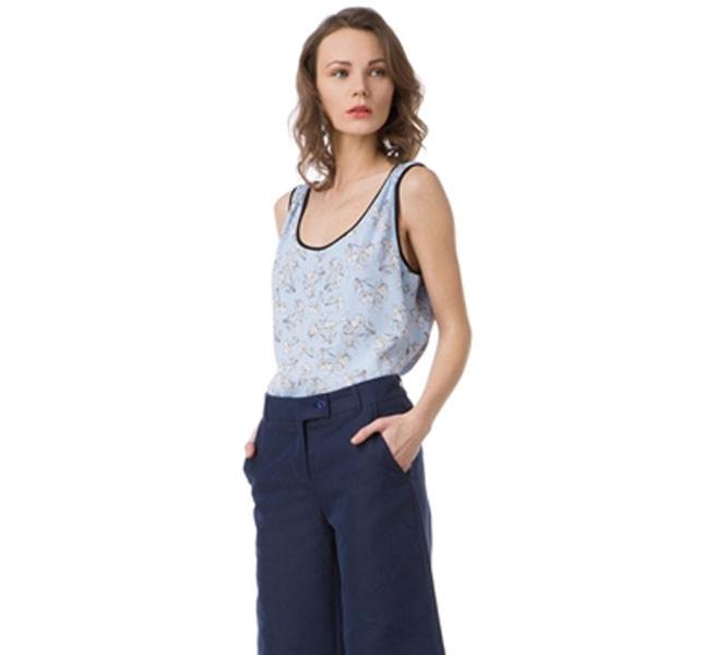 Pantaloni Kalesso a zampa e in misto cotone