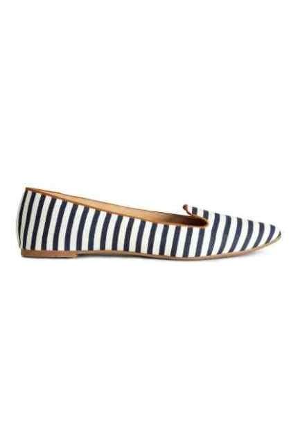 H&M slipper a righe