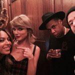 Foto Taylor Swift con Beyoncé, Jay Z e Justin Timberlake