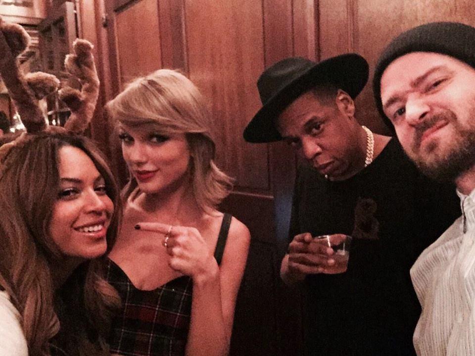 Taylor Swift festeggia il suo 25esimo compleanno con Beyoncé, Jay Z e Justin Timberlake