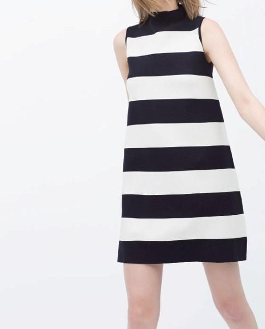 Vestito a righe bianco e nero