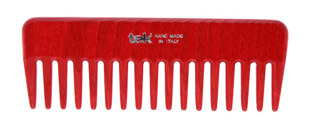 Tek - pettine in legno ideale per capelli ricci