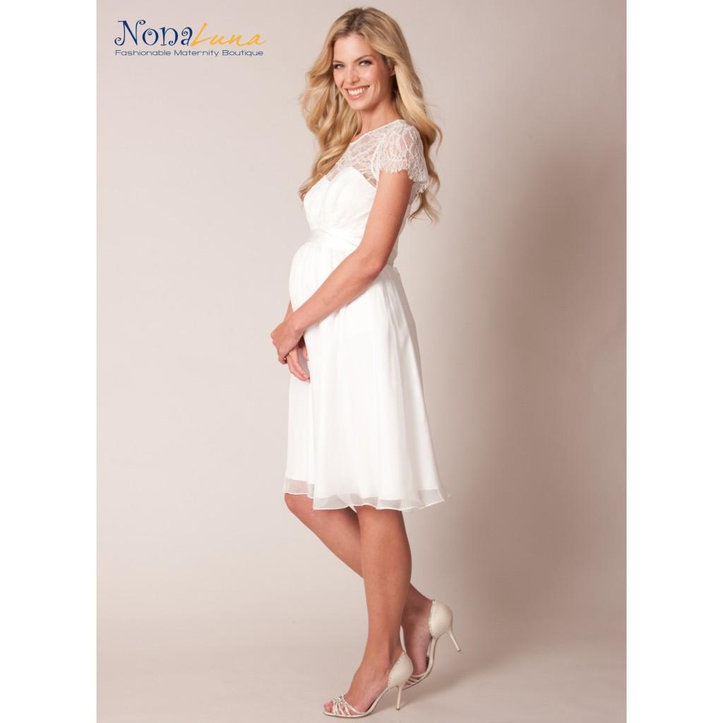 Abito Nonaluna modello Yvonne corto bianco