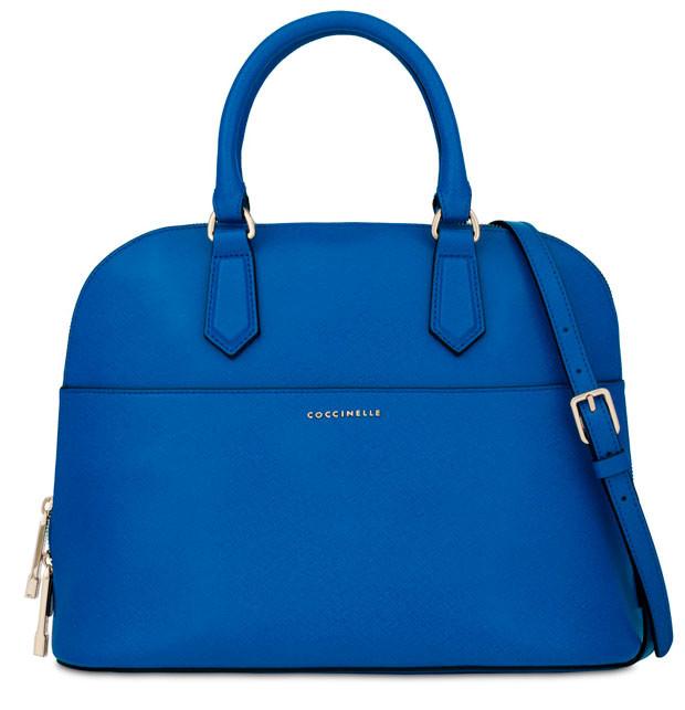 Shopper in pelle blu_ Coccinelle